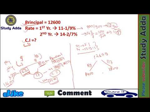 compound Interest Math trick#2  online college level math courses for ssc cgl,ss