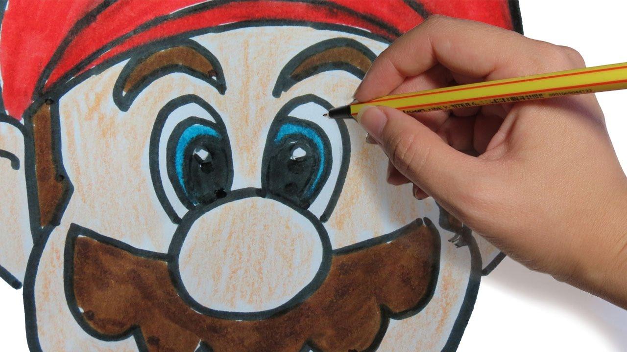Como Dibujar A Mario Bros Facil Paso A Paso A Lapiz Youtube