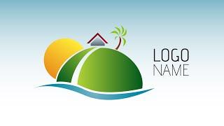 Adobe Illustrator CC | Logo Design Tutorial (Island)