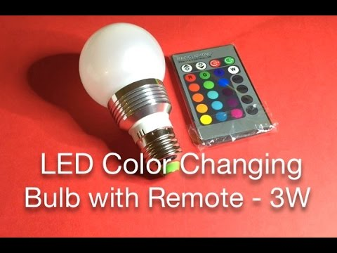 LED Color Changing Bulb with Remote - 3W