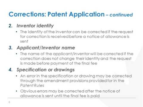 Proposed amendments to the Patent Rules - Part 3