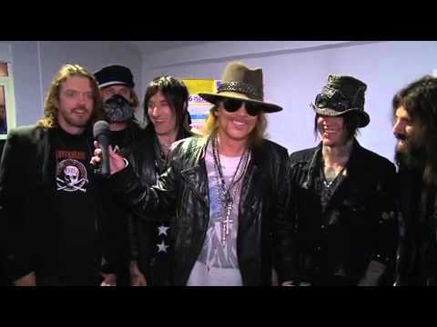 Backstage interview with Guns N' Roses in Abu Dhabi - December 16th 2010