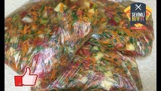 Qış tədarükü üçün dondurulmuş tərəvəz (замороженные овощи на зиму) (kış için dondurulmuş sebze)
