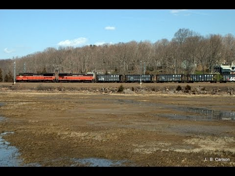 Providence & Worcester NR-2 in Stony Creek, CT April 9, 2013