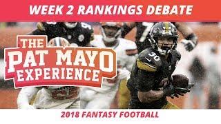 2018 Fantasy Football — Week 2 Rankings, Starts, Sits, Sleepers and Busts