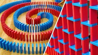 Domino Tricks with Joseph's Machines! (How to build an In-Out Spiral & Speedwall)