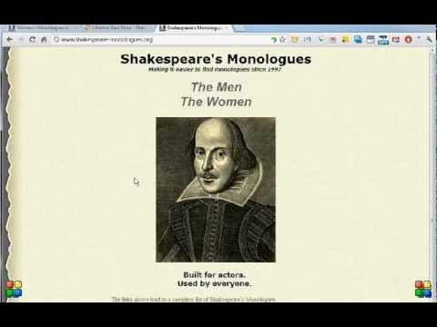 How To Use the Shakespeare's Monologues Website