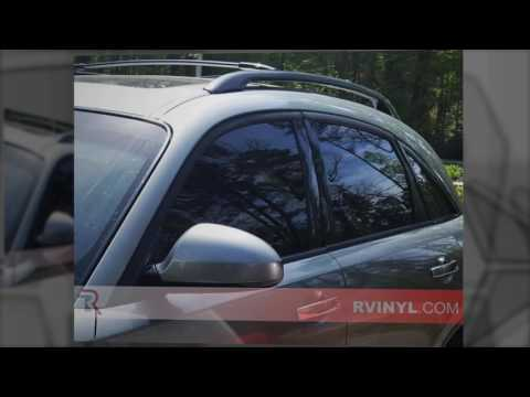 Dark Tint WeatherTech Side Window Deflectors for Infiniti FX35-2003-2008
