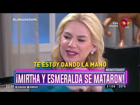 Mirtha y Esmeralda se pelearon