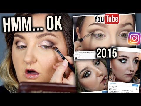 I TRIED FOLLOWING MY OWN MAKEUP TUTORIAL FROM 2015..