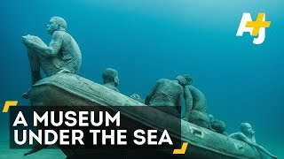 Amazing Underwater Museum Museo Atlantico(Artist Jason deCaires Taylor's refugee sculptures sit nearly 50 feet below the sea off the coast of Spain's Canary Islands. You'll need some diving gear to visit ..., 2016-02-11T20:30:00.000Z)