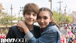Rowan Blanchard and Her BFF Corey Play Best Friend Tag | Besties