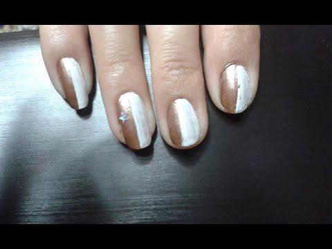 Как покрасить ногти двумя лаками