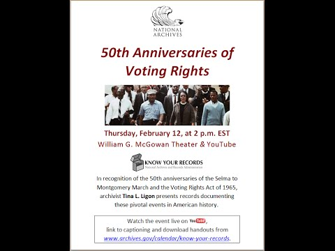 50th Anniversaries of Voting Rights  (broadcast 2015 Feb. 12)