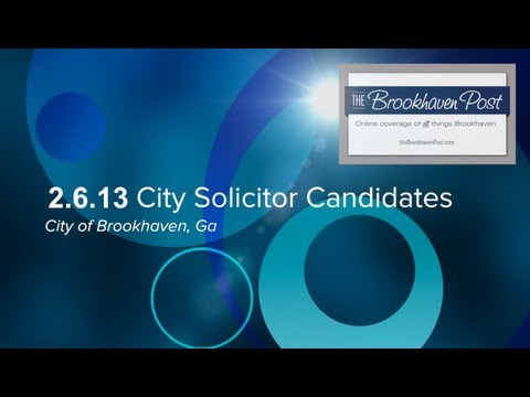 2.6.13 City Solicitor Candidate: Riley McLendon, LLC