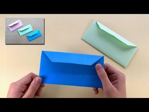 Origami Briefumschlag basteln mit Papier - Origami Brief falten mit DIN A4 - DIY Geschenkverpackung