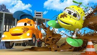 Малыш Гектор - Автомойка Эвакуатора Тома в Автомобильный Город 💧 детский мультфильм