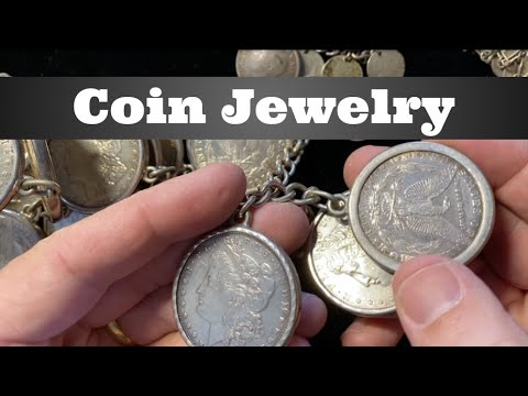 Coin Jewelry - Morgan dollars, silver coins, & Buffalo Nickels turned into bracelets, belts, & more