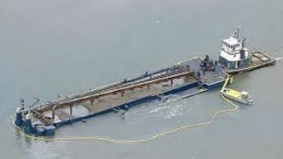 Texas oil Spill: Fuel Barge Crashes Galveston Bay ~ Spill oil & fuel Texas City [2014]