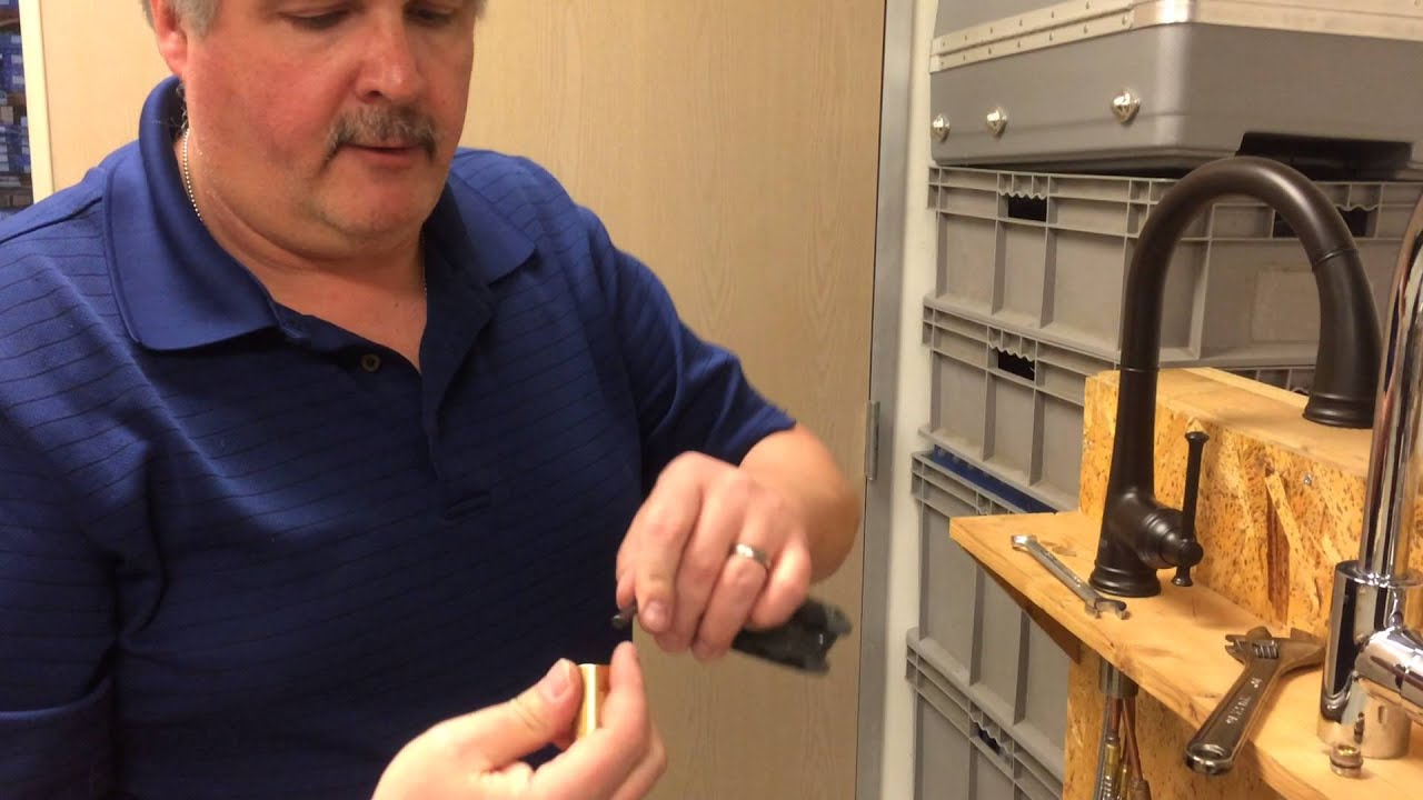 How To Clean A Flow Restrictor For A Kitchen Faucet Youtube