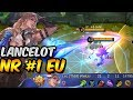 THIS IS HOW BEST LANCELOT IN EU CARRIES RANKED GAMES?! - MOBILE LEGENDS
