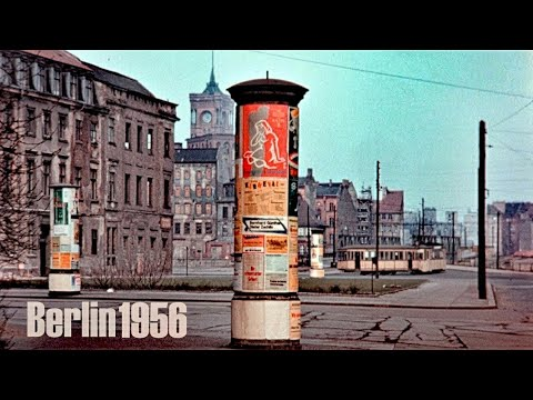 Berlin 1956 - West & Ost - Kuhdamm - Brandenburger Tor - Sta
