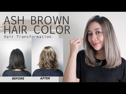 Ash Brown Hair Color Transformation | Foilayage Hair Technique - YouTube