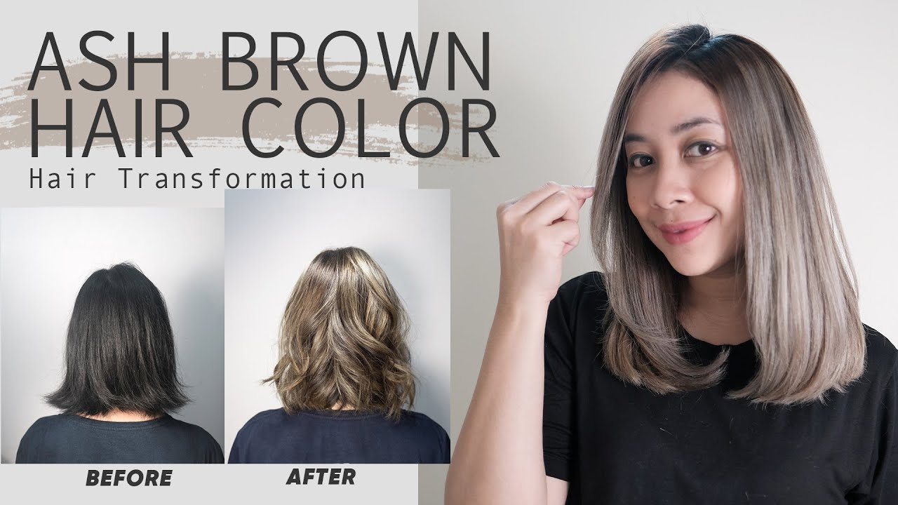 Ash Brown Hair Color Transformation Foilayage Hair Technique Youtube
