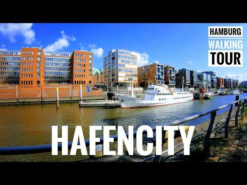 Hafen City  4K 60 - Hamburg Walking Tour