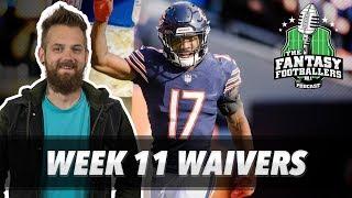 Fantasy Football 2018 - Week 11 Waivers & QB Streamers, McCoy Mathematics - Ep. #649