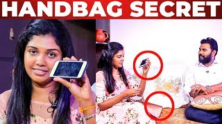 FUN: Riythvika's Handbag Secrets Revealed | Bigg Boss | What's Inside the HANDBAG