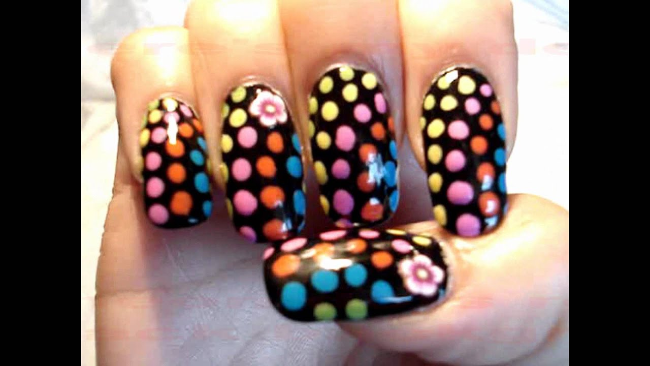 60s Neon Retro Psychedelic Hippie Nail Art By Gettingnailed Youtube