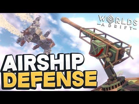 Worlds Adrift - AIRSHIP DEFENSE CANNON! New Islands, Battles, & Lore! - Worlds Adrift Beta Gameplay