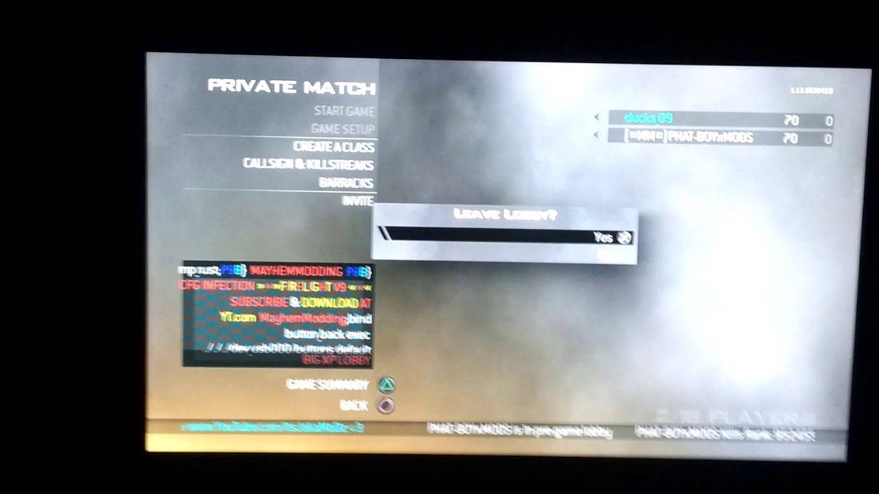 cfg infection mw2 ps3