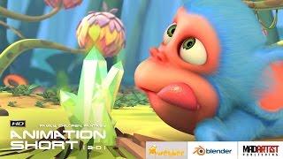 "Cgi 3d animated short film ""monkaa"" - cute animation kids cartoon by blender foundation"