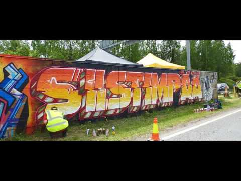 300 Meters of Graffiti - Kulosaari Sound Barrier 2017 in Helsinki, Finland