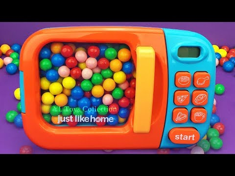 Learn Colors with YL Toys Collection and Microwave Surprise Toys