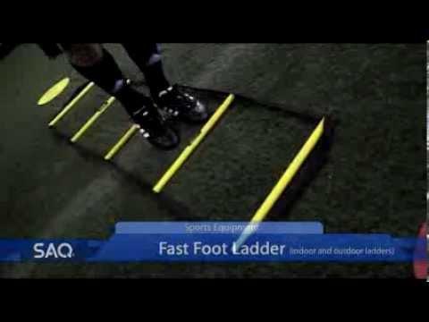 SAQ® Fast Foot Ladder Sports Equipment Product Promo Video (Speed, Agility, Quickness (SAQ®)