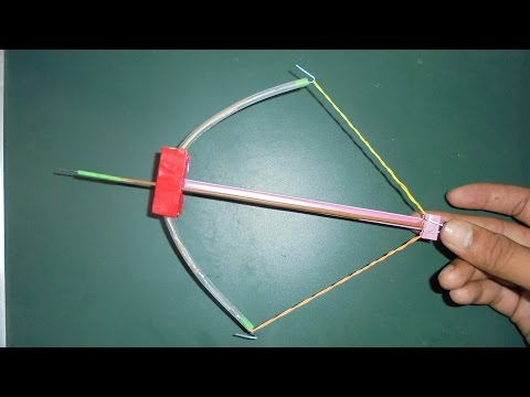 How To Make A Mini Crossbow Make At Home  - Easy Tutorial