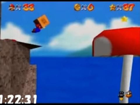 Super Mario 64 (N64) 120 star Speed run 1:49:49