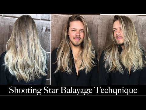 Shooting Star Balayage Technique