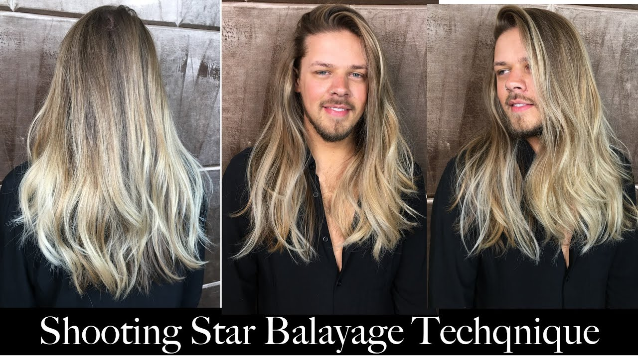 Shooting Star Balayage Technique Youtube