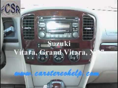 Suzuki Vitara Grand Vitara Xl7 Stereo Removal Youtube