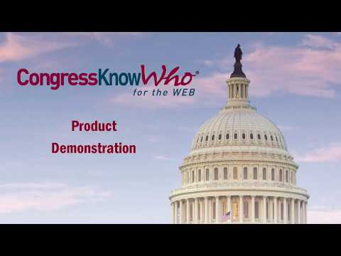 Congress KnowWho for the Web