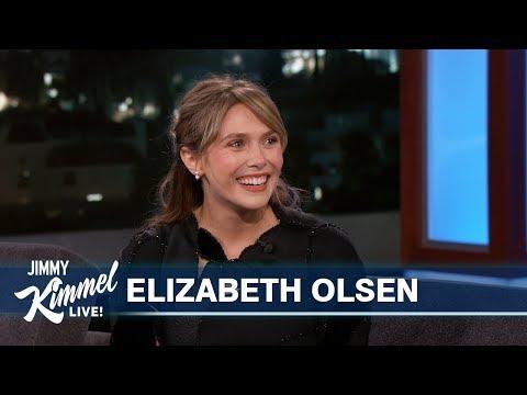 Elizabeth Olsen appeared on Jimmy Kimmel Live!