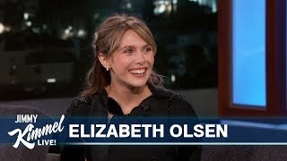 Elizabeth Olsen on Scarlet Witch & Hiding from Jimmy Kimmel