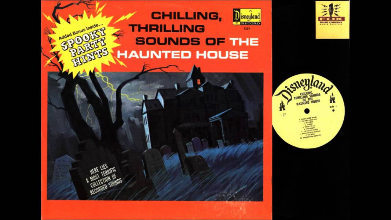 disney haunted house sound effects record 1964