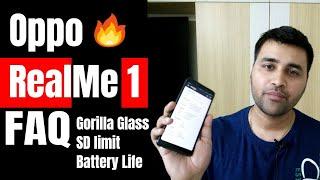 Oppo RealMe 1 Smartphone FAQ: VoLTE, Gorilla Glass, Notification LED, SD Card | Hindi | BintooShoots