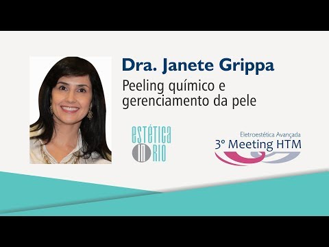 """Palestra: """"Peeling químico e gerenciamento da pele"""" – Dra. Janete Gripa"""