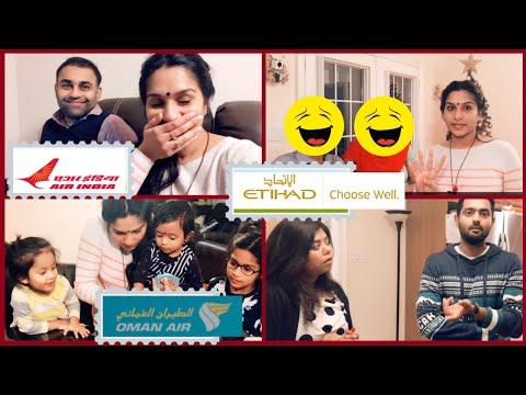 യാത്രാ വിശേഷങ്ങൾ | SHARING OUR FLIGHT EXPERIENCE |KOCHI TO TORONTO | ETIHAD | AIR INDIA | OMAN AIR